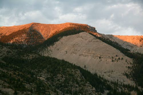 Choteau Mountain, Sunset