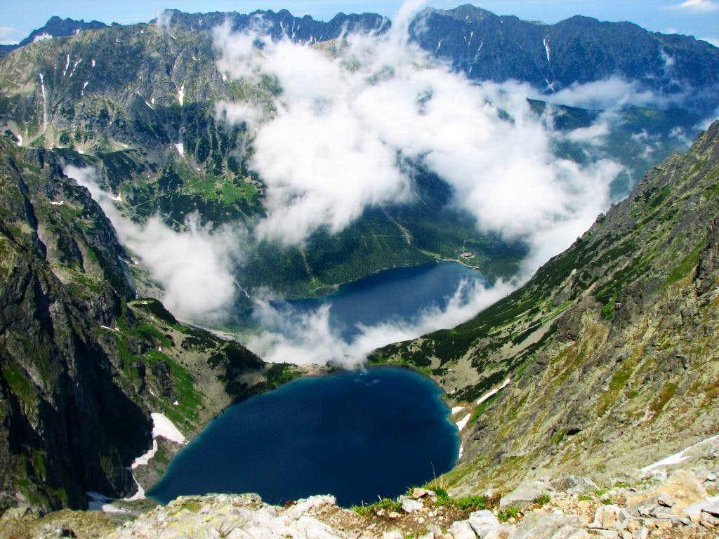 Morskie Oko and Czamy Staw lakes