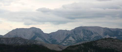 North Choteau Mountain  and Choteau Mountain