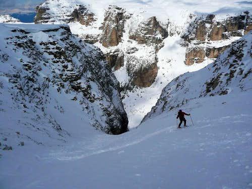 Sass Pordoi North Face 2950 M Canale Holzer Climbing