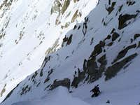 Whymper couloir - Aiguille Verte