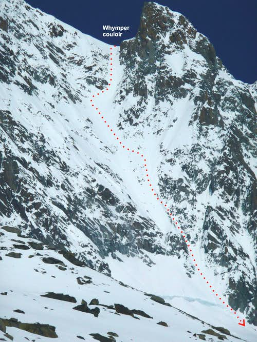 detail of Whymper couloir