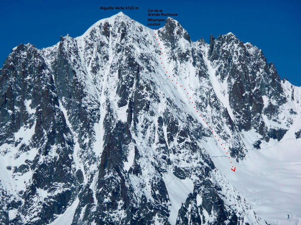 Aiguille Verte – view from Glacier du Geant