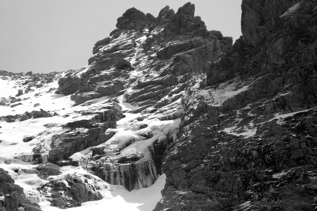 Icefall in Los Tubos