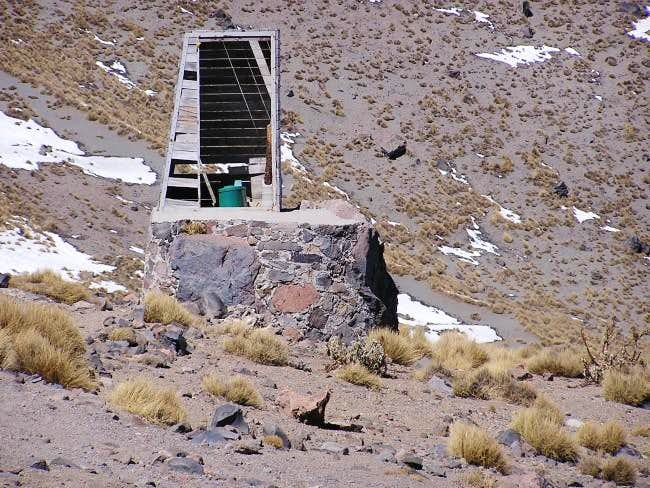 Outhouse at Piedra Grande....