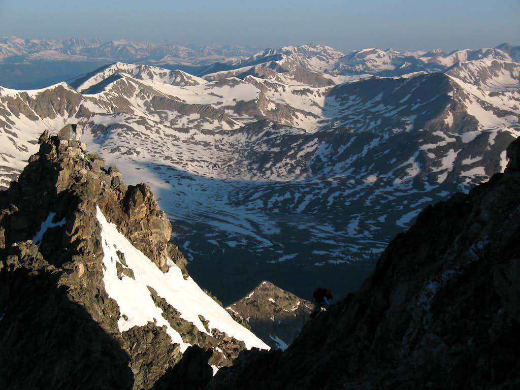 Scaling the summit ridge