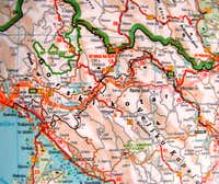 Road map of Gorski Kotar