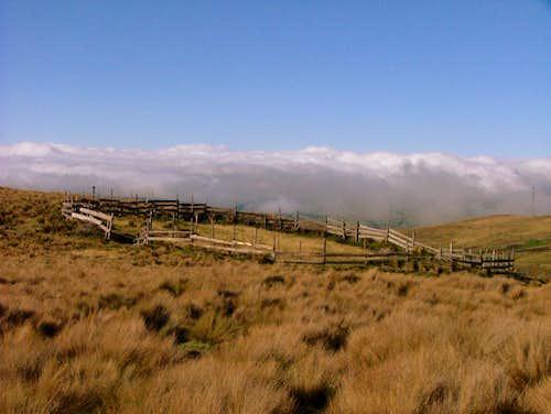 Approaching to San Jose. Inca Trail, Ecuador.