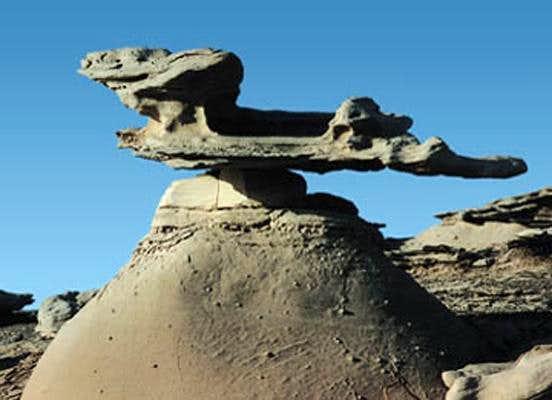 A peculiar stone near...