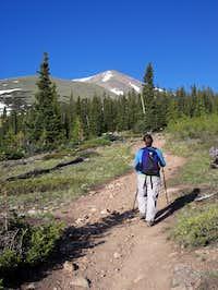 Hiking up Mt. Elbert