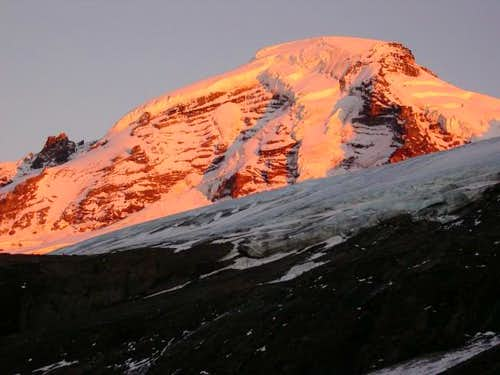 Early morning alpenglow,...