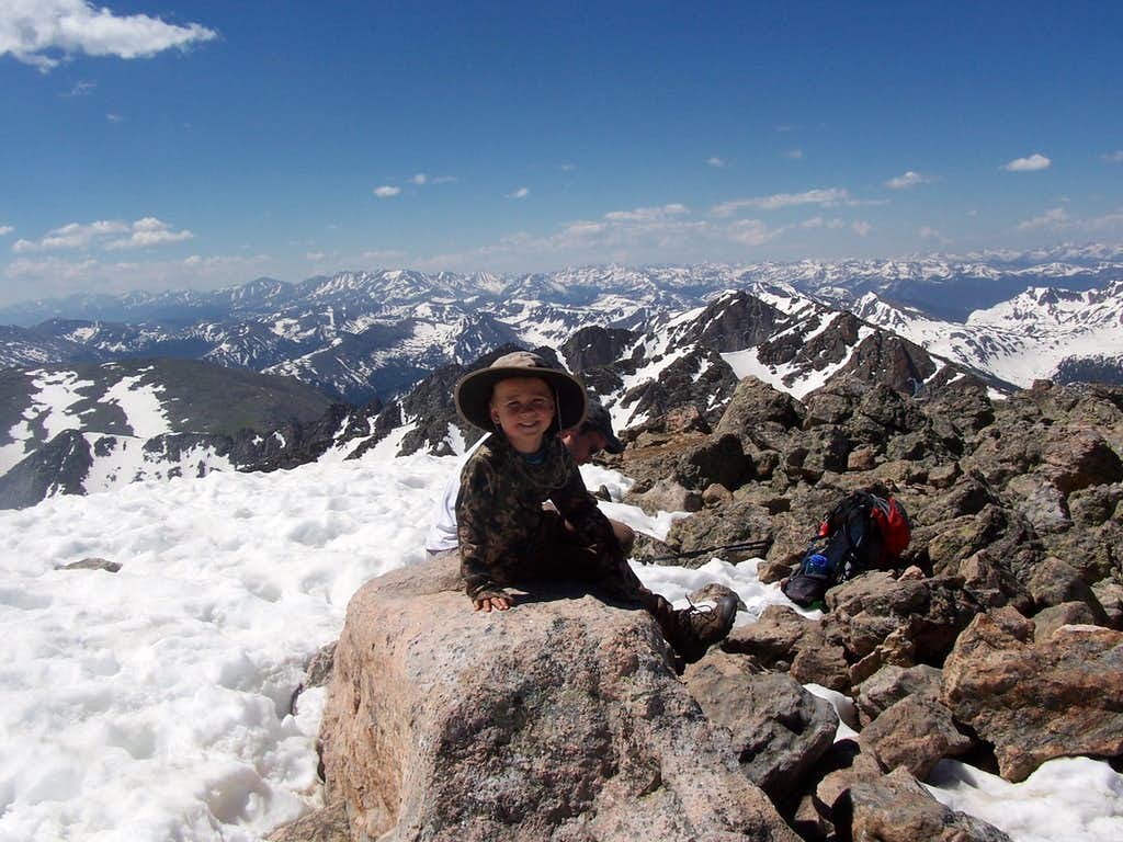 Summit of Mount of the Holy Cross on July 4 2008