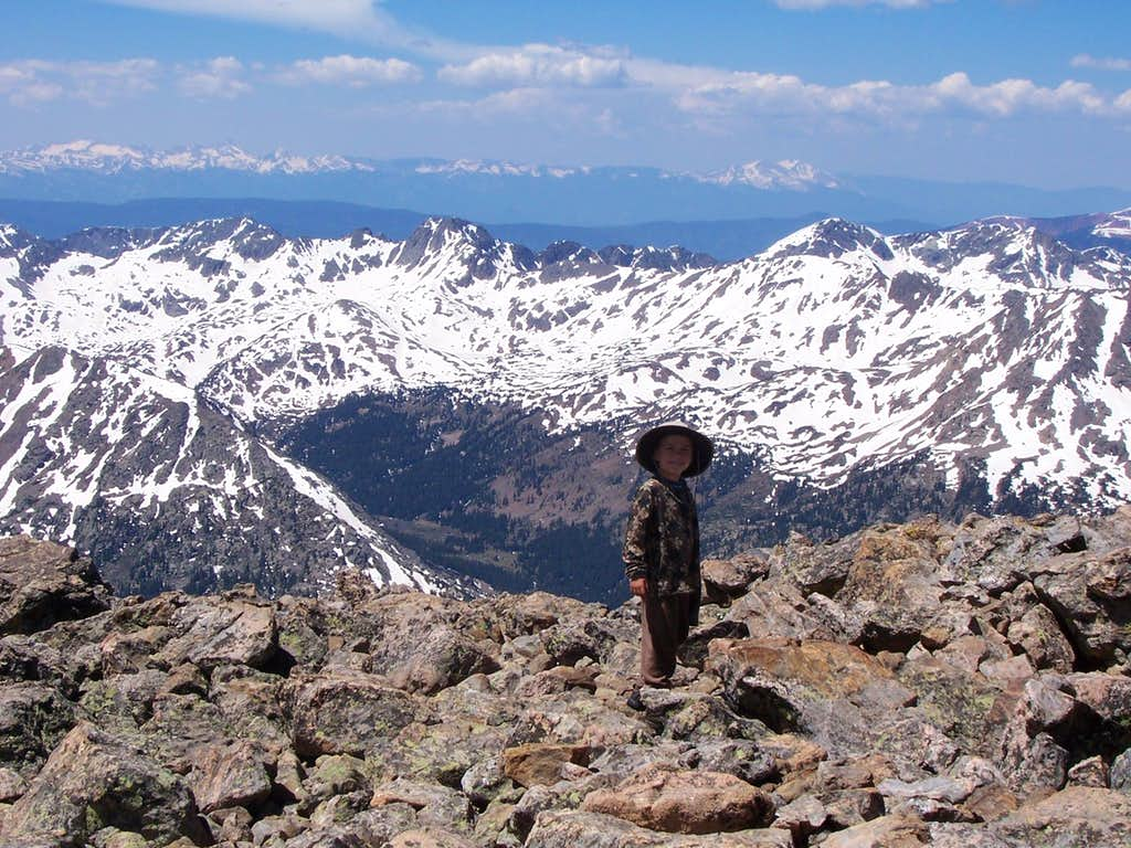 Summit of Holy Cross on July 4 2008
