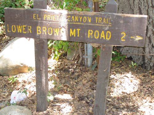 Beginning of El Prieto Canyon Trail
