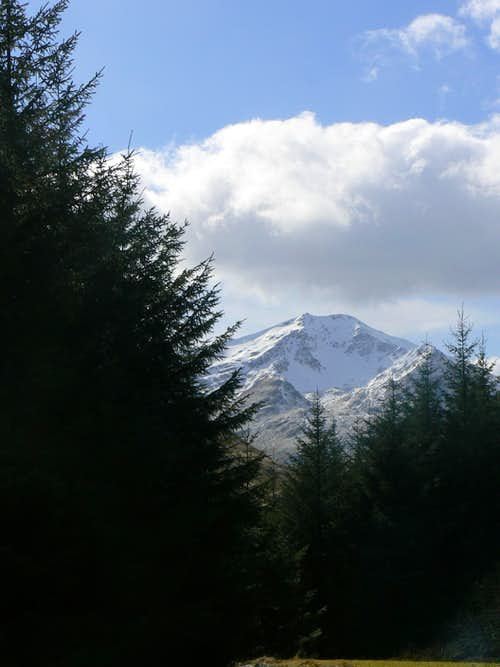 Snow capped Ben Lui
