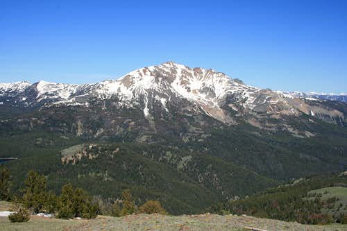 Electric Peak from Sepulcher Mountain