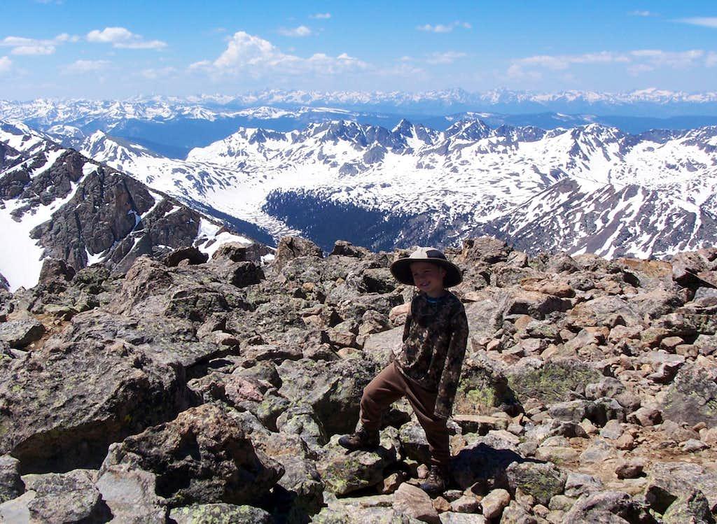 Elk Range from the summit