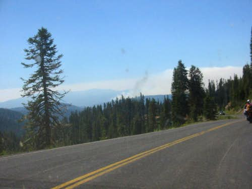 Norcal Fires from Lassen Park Road