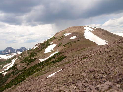 Kletting Peak from the east