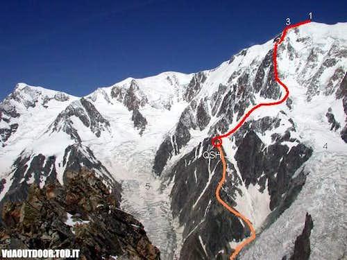 The Tournette Spur route  1...