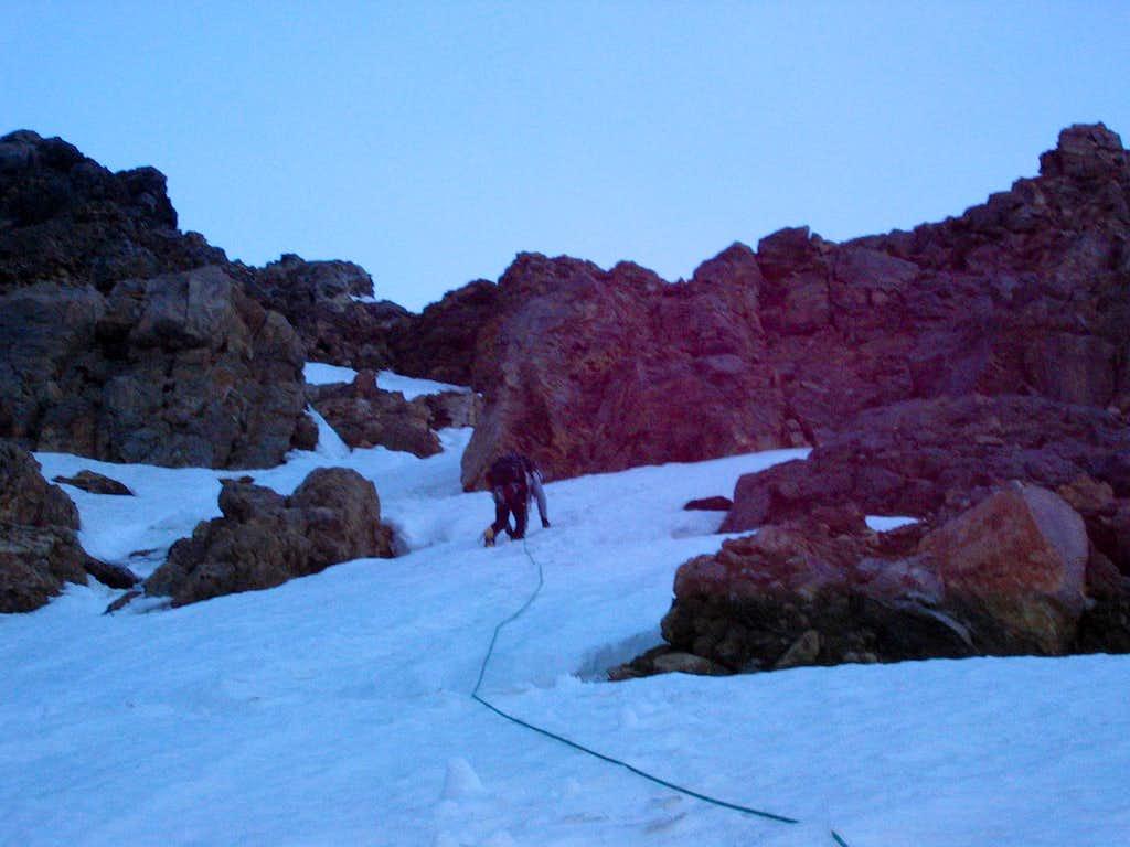 Steep Snow and Rock