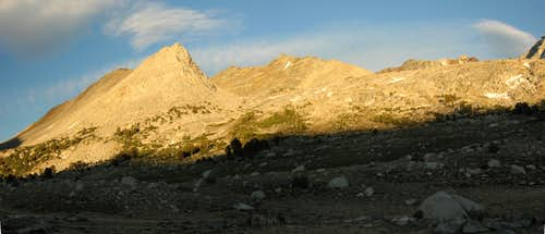 Striped Mountain from Taboose Pass Trail