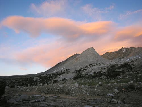 Sunset view of Striped Mountain and Taboose Pass 7/4/08
