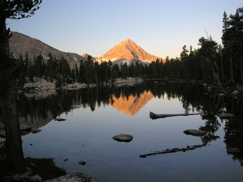Morning reflection of Arrow Peak