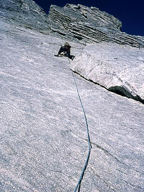 climbing on the NE wall -...