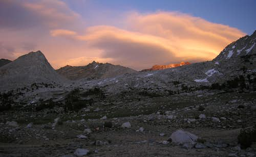 Striped Mountain Alpenglow 7/4/08