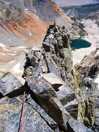 Start of the East arete proper, Split Mt