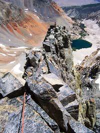 Start of the East arete proper, Split Mt