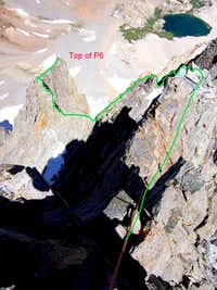 A couple of pitches on East Arete of Split