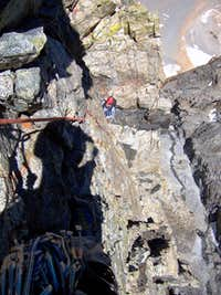 East arete, pitch 10