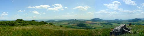 Panorama of Balaton Uplands