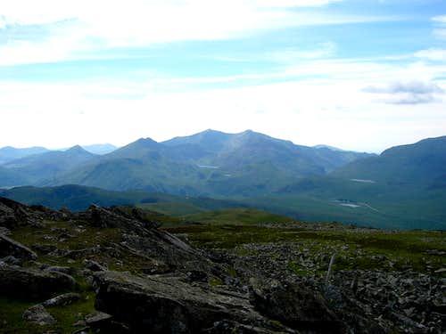 The Snowdon Range from Moel Siabod