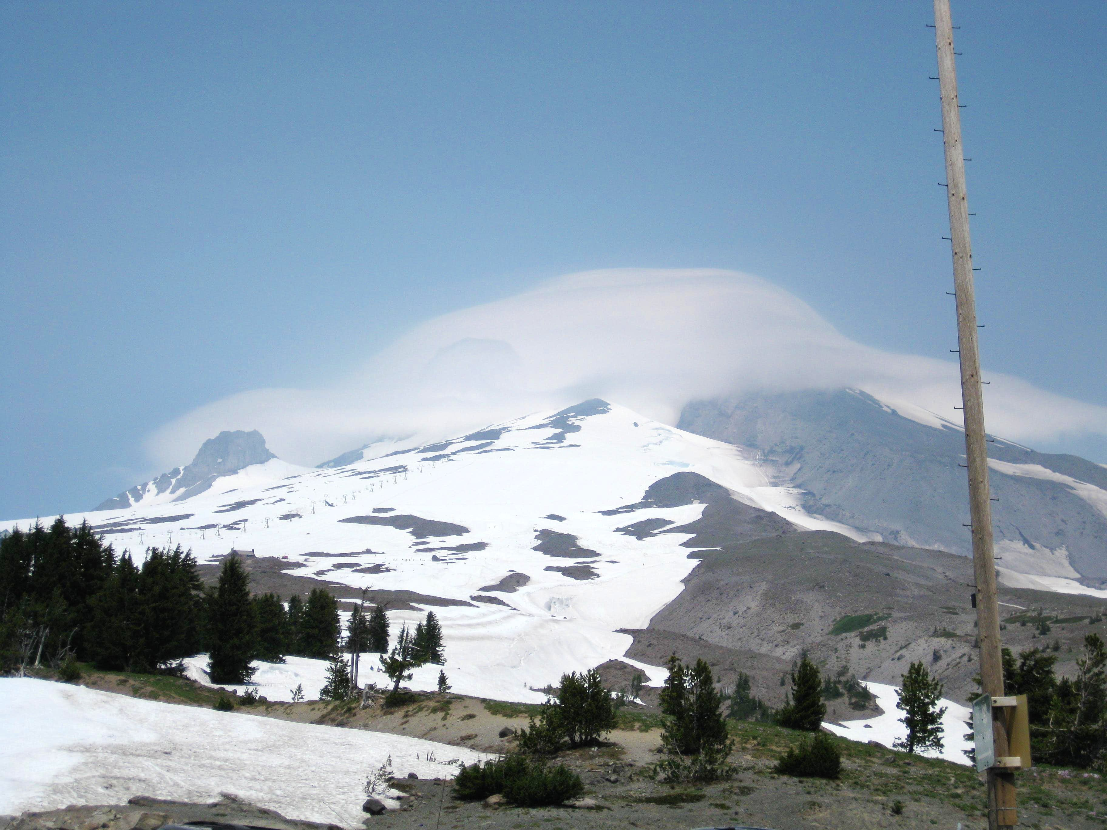 Mount Hood in a Cloud