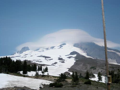 Mount Hood in a Cloud