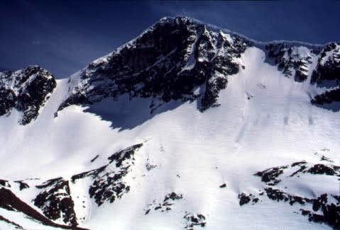 The north face of Mt. Dana...