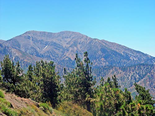 Mount Baldy and West Baldy from Blue Ridge