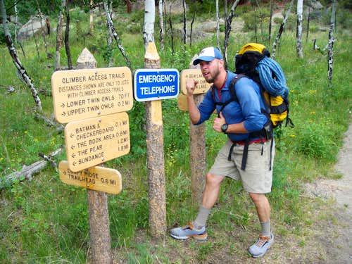 Lumpy Ridge trail junction
