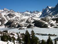 Iced over Island Lake