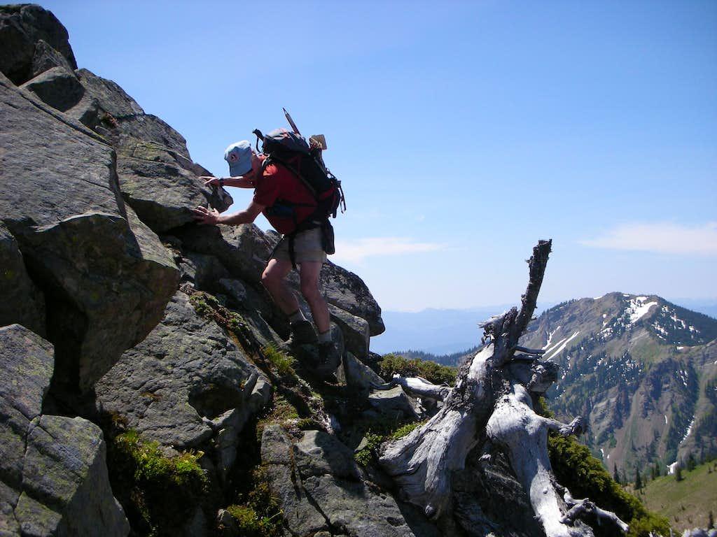 Climbing over the False Summit