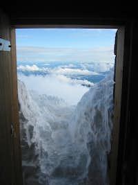 West door of shelter