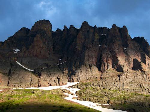 The Cliffs of Sinopah Mountain