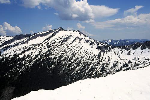 Whittier Peak from Bryant summit
