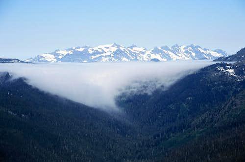 Monte Cristo Peaks from Poet's Ridge