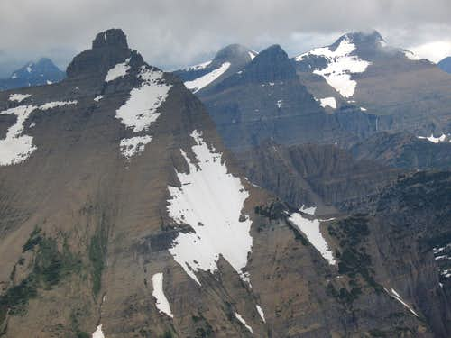 Split Mountain and Mount Siyeh