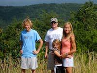 My family on Cheaha