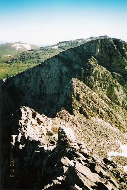 The Sawtooth Ridge as viewed...